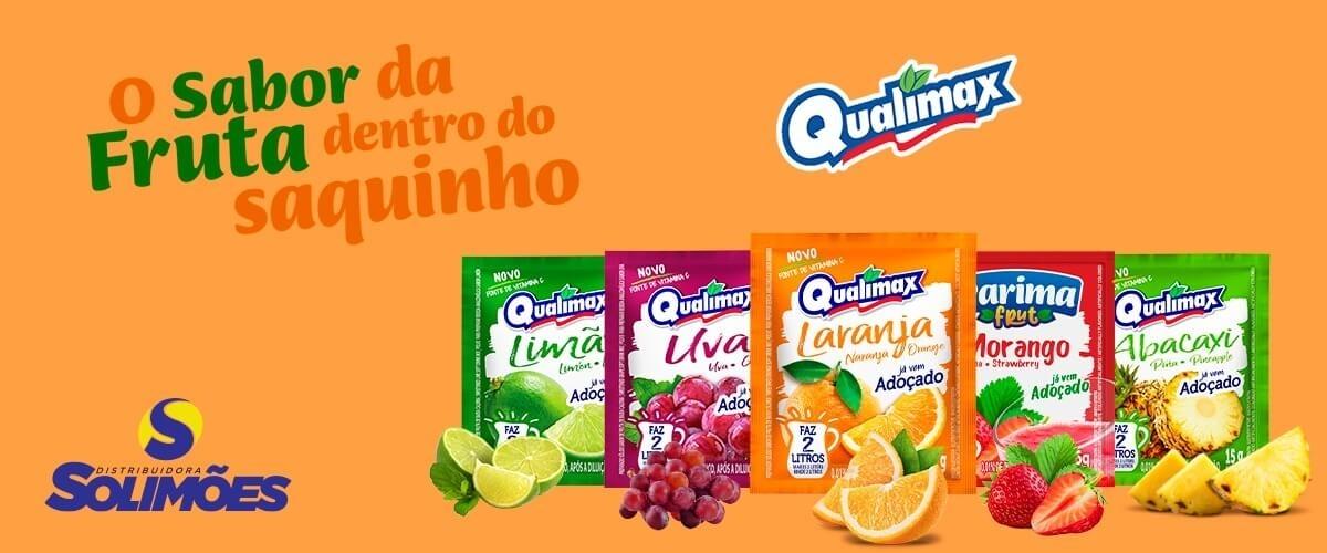 O sabor da fruta saquinho Qualimax - Distribuidora Solimões - Site Institucional